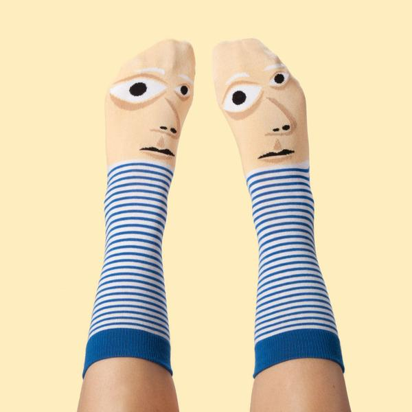 funny colorful socks that turn your feet into warhol van