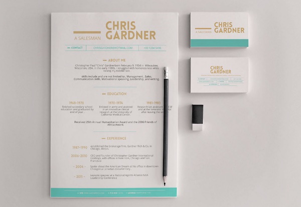 After Watching The Film In Pursuit Of Happiness, Saudi Arabia Based  Freelance Designer Fay Zodiac Was Inspired To Create A Résumé Template So  That U201csomeone ...