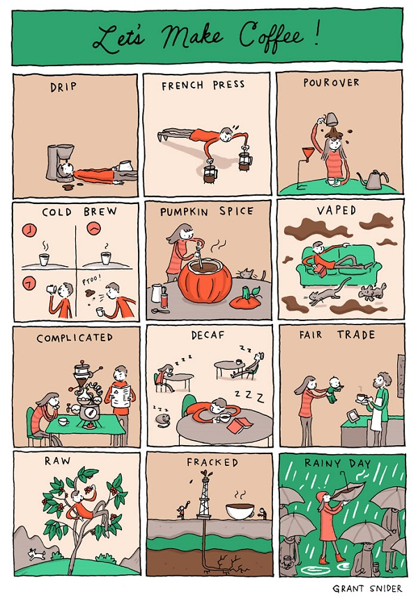 Funny Comic Shows The Various Ways Of Making Coffee Designtaxicom