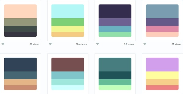 A Curated Site For Beautiful Color Palettes Collection Updated Daily