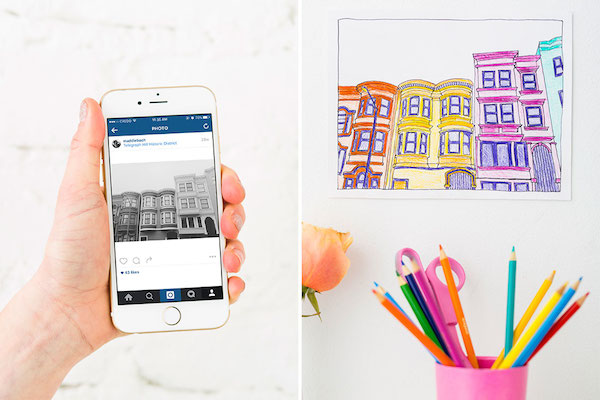simple steps to turn your favorite instagram photos into unique coloring pages