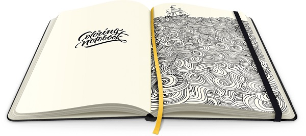 This Lovely Notebook Contains Beautiful Illustrated Coloring Pages For Adults