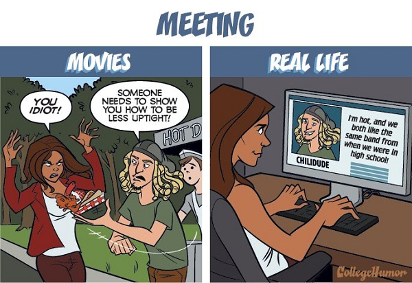 Comics: The Differences Between Romance In Movies VS Real-Life