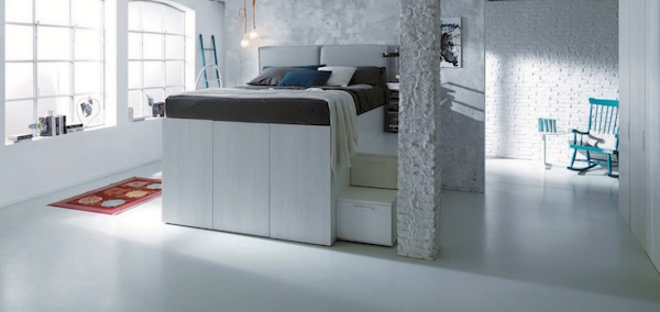 Modern Space Saving Container Bed Hides A Closet Beneath