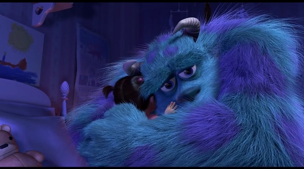 Watch this tear jerking supercut will definitely make you for Monsters inc bathroom scene