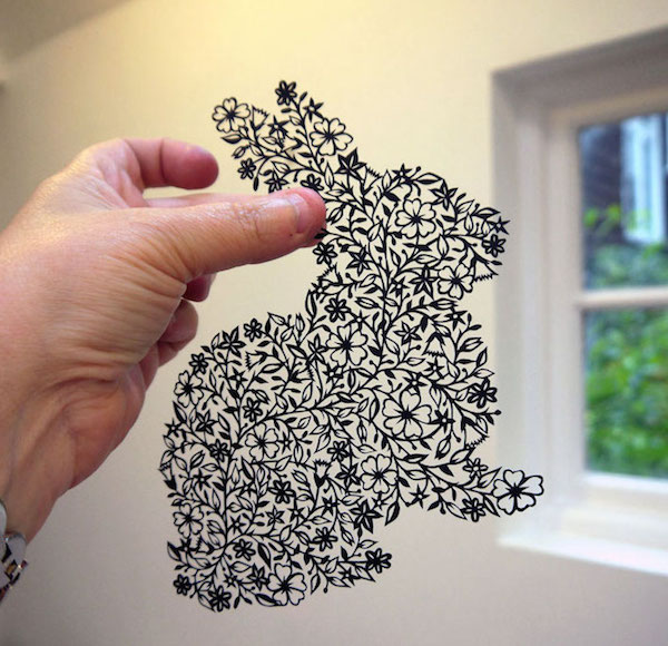 Wall Design Paper Cutting : Charming intricate lace like cutouts each created from a