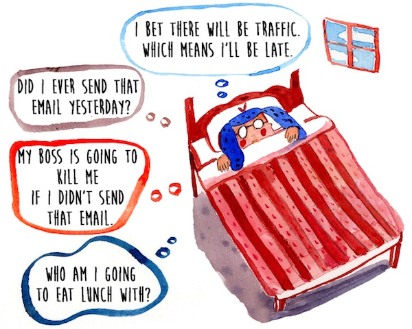 Honest Drawings That Illustrate A Day In The Life Of An Anxious