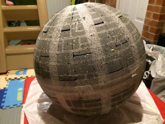how to turn an ikea lamp into an awesome star wars death star replica. Black Bedroom Furniture Sets. Home Design Ideas