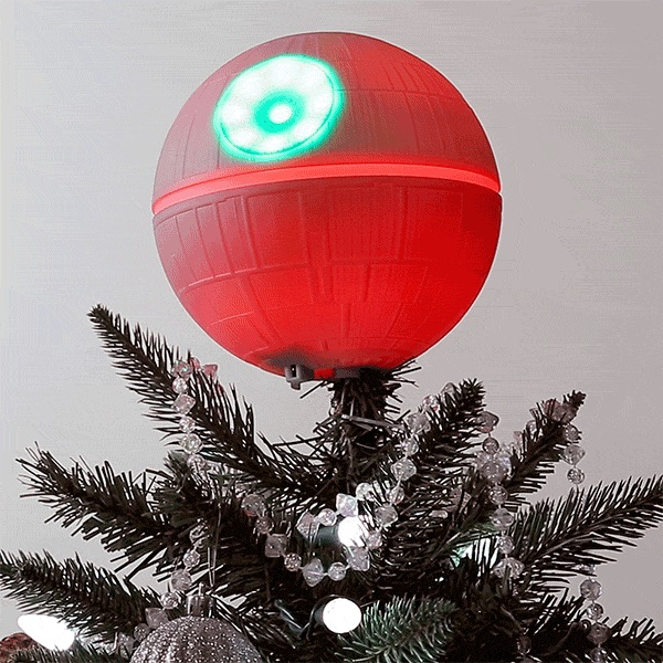 A Star Wars Death Star Christmas Tree Topper That Plays The Imperial March Designtaxi Com