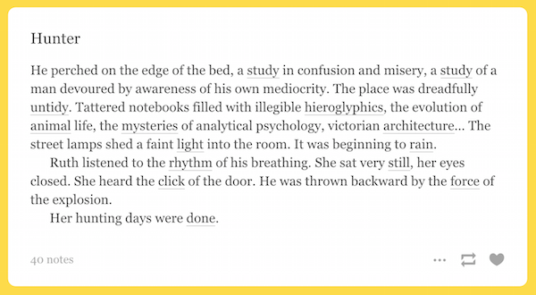 example of short story with questions