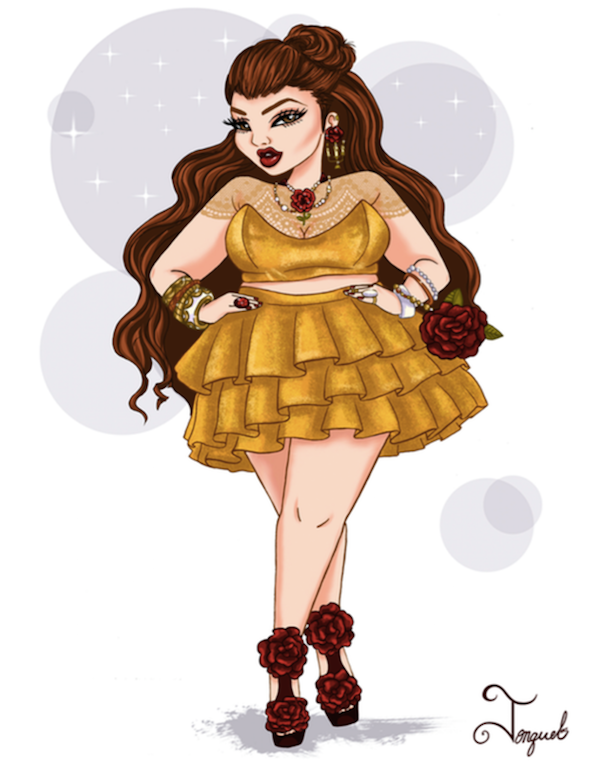if disney princesses were curvaceous fashionistas in the