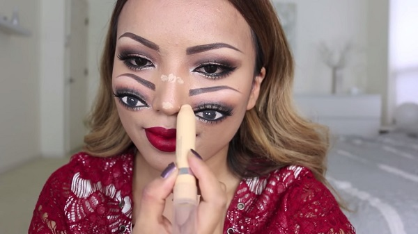 Double face makeup