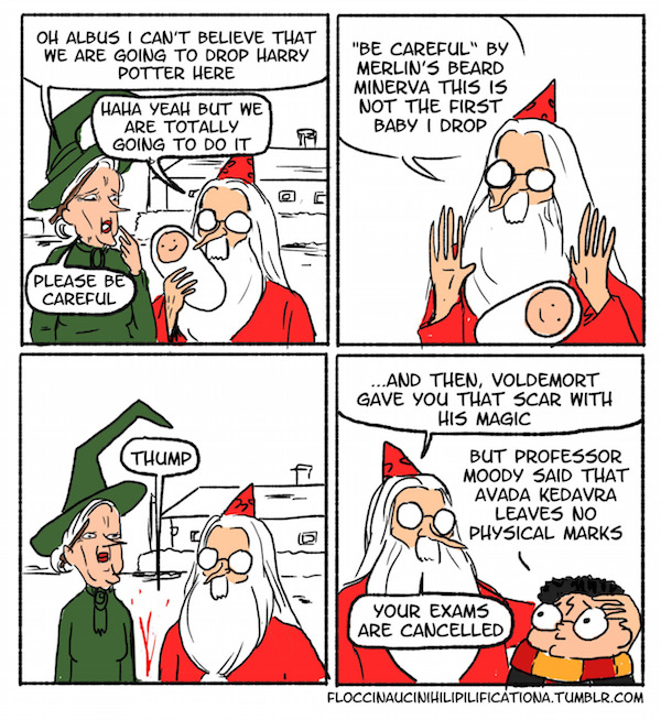 Famous comics harry potter