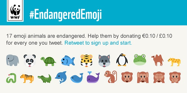 WWF Wants You To Save Endangered Animals By Tweeting These Emojis