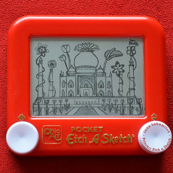Artist Documents Her Travels Across The World Using 'Etch A Sketch'