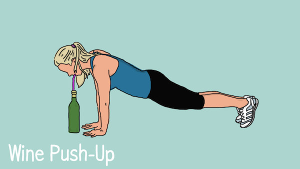 funny illustrations show how to fit exercise into your