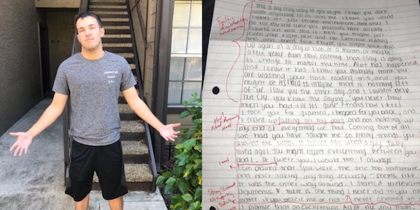 Man Corrected, Graded His Ex-Girlfriend's Apology Letter And
