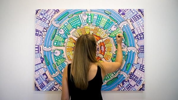 if adult coloring books are becoming too mainstream try coloring wall art - Giant Coloring Book