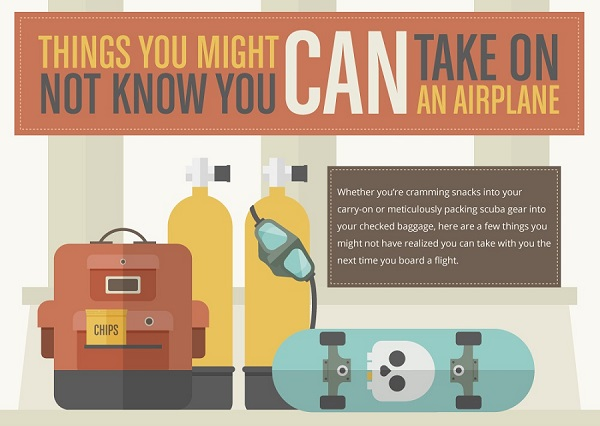 infographic things you might not know you can bring on an airplane. Black Bedroom Furniture Sets. Home Design Ideas