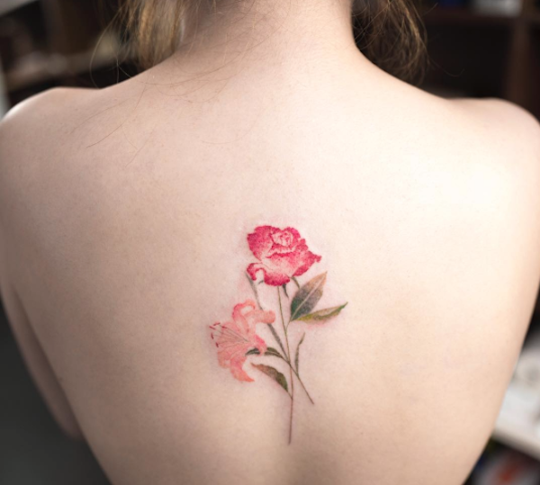 Delicate But Vibrant Floral Tattoos That Resemble