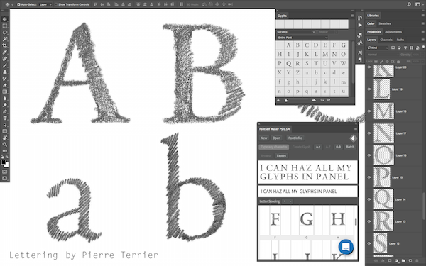 Turn Any Lettering Into Actual Fonts On Photoshop In Seconds
