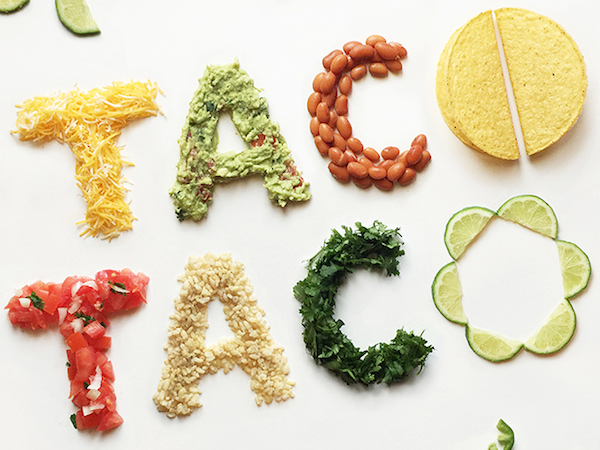 Mouth Watering Typography Made Of Fresh Ingredients Spell
