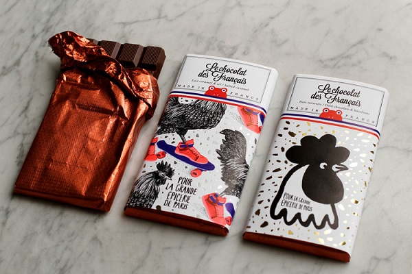 Playful Eclectic Illustrations For French Chocolate Bar