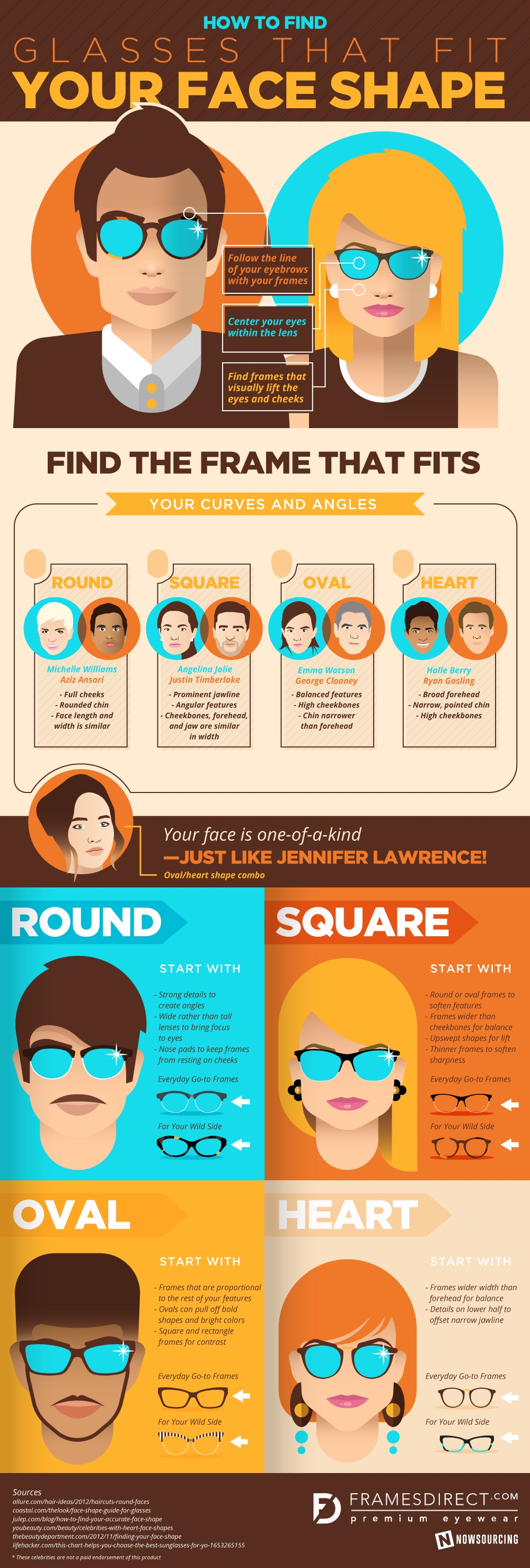 Infographic: How To Select Glasses That Complement Your Face Shape ...