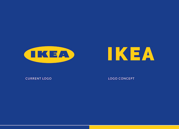 A minimalist redesign concept of ikea s logo that opts for for Concept ikea