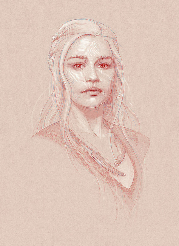 Striking, Expressive, Sketch-Like Illustrations Of 'Game Of Thrones' Characters
