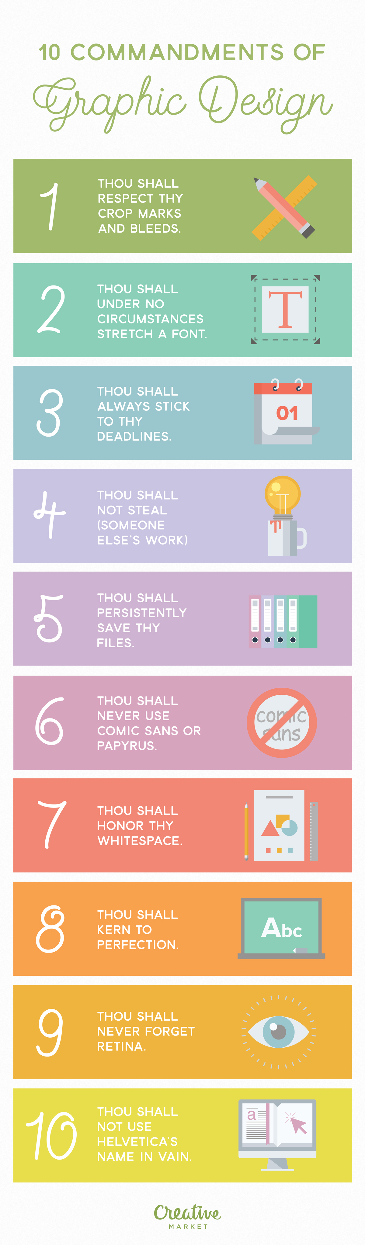 infographic: 10 commandments of graphic design - designtaxi