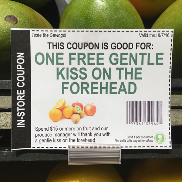 guy pranks grocery store by planting fake coupons
