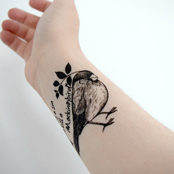 beautiful tattoos inspired by the late harper lee 39 s to kill a mockingbird. Black Bedroom Furniture Sets. Home Design Ideas