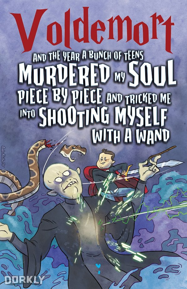 Harry Potter Book Titles : Funny 'harry potter book covers show voldemort s