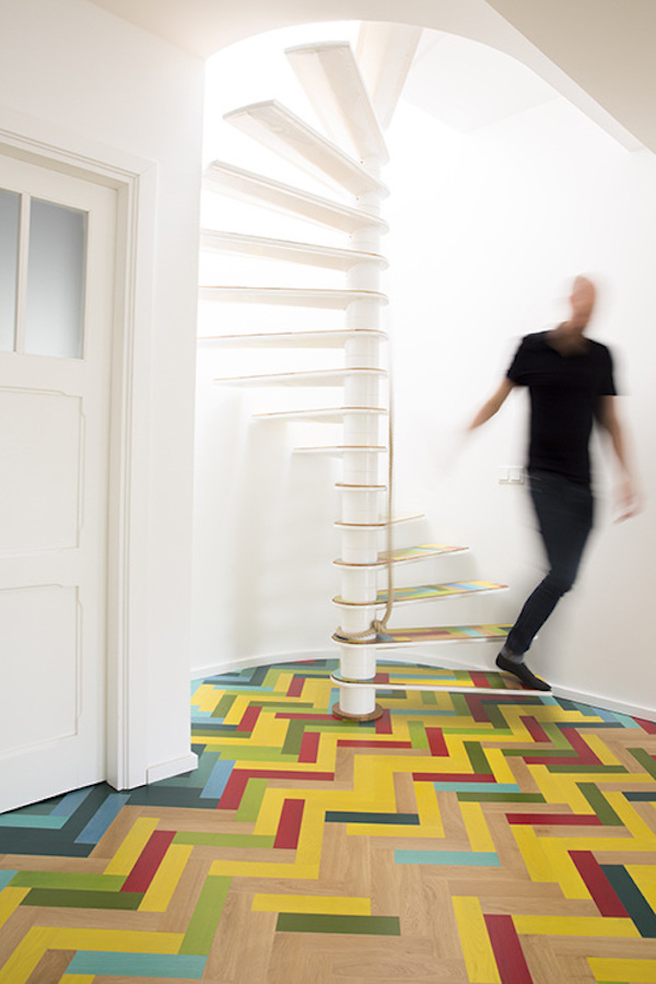 Apartment with hidden fireman s pole offers fun way of moving between floors - The fireman pole apartment an incendiary design ...