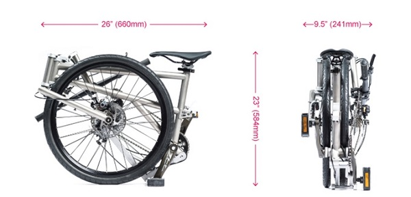 The World S Most Compact Foldable Bike Has Big Wheels