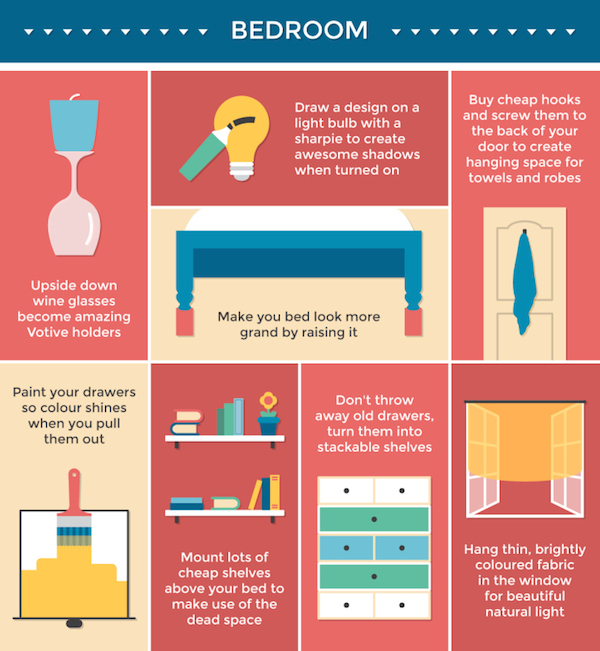 Infographic 50 Interior Design Tips For A More Comfortable Home