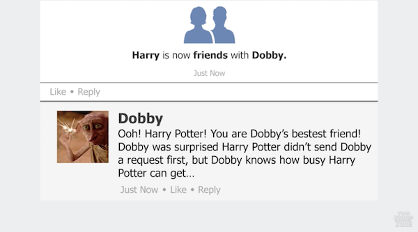 watch what if the characters from harry potter had facebook