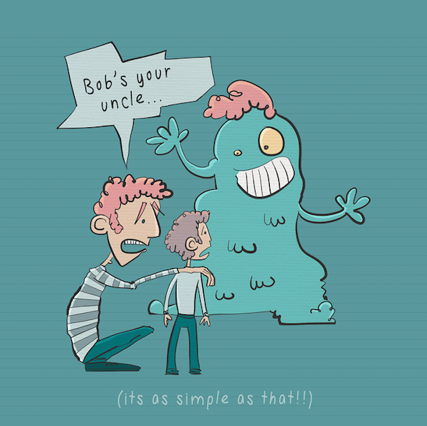 Comical, Literal Illustrations Of Common English Idioms