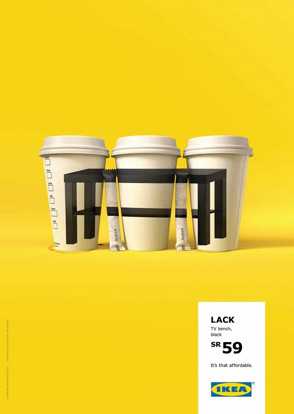 Brilliant ikea ads cleverly remind us of how affordable for Affordable furniture uae