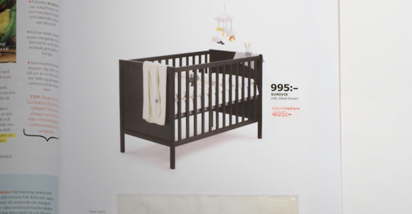 ikea cleverly hides pregnancy test inside an ad for its sundvik crib. Black Bedroom Furniture Sets. Home Design Ideas