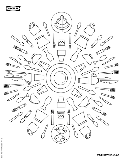 IKEA Creates Free Downloadable Coloring Book Featuring Its Iconic Products