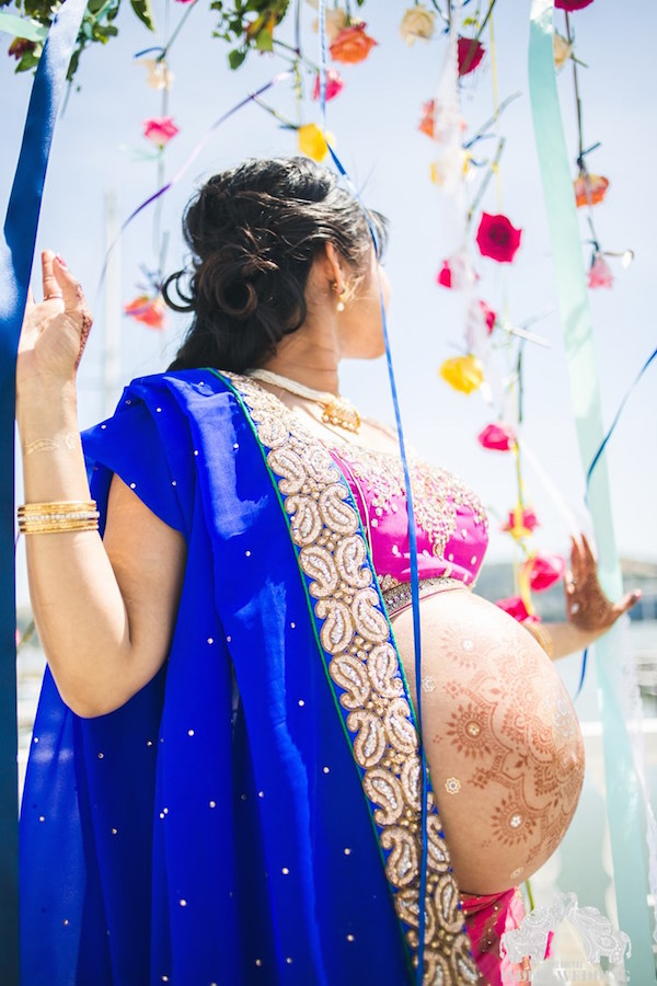 Pregnant Wedding Blogger Creates Stunning Indian Inspired