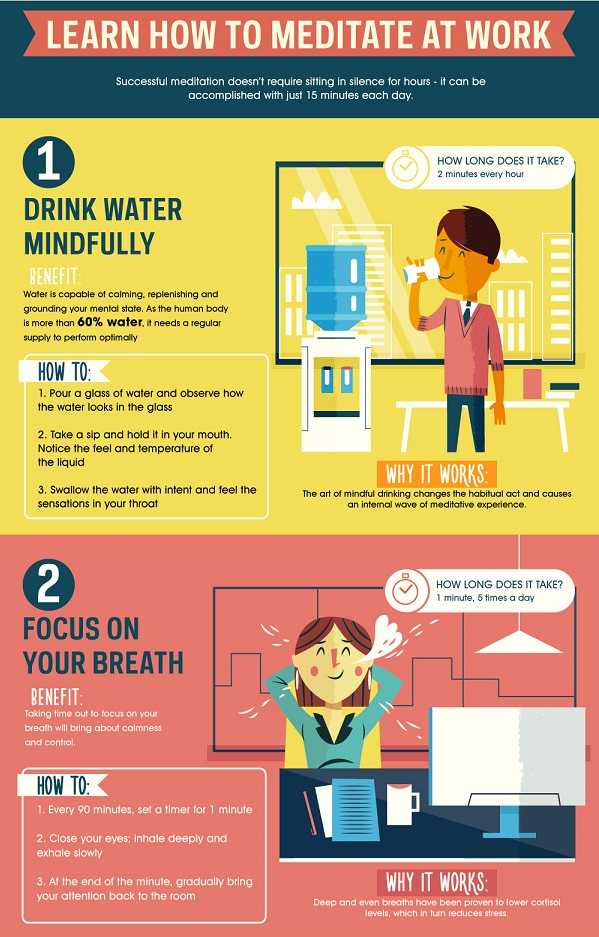 how to meditate at work