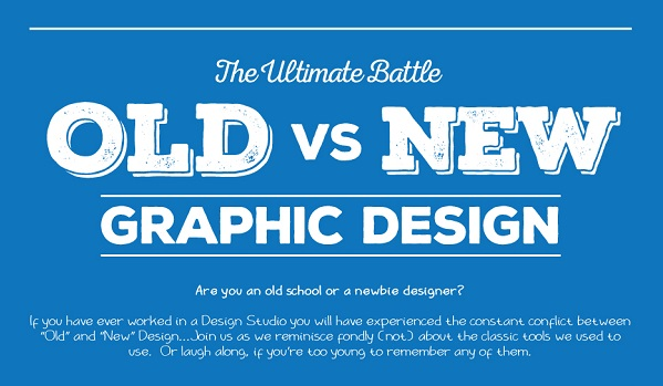 Infographic traditional vs modern graphic design tools Traditional vs contemporary design