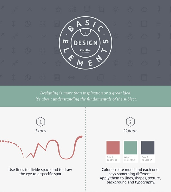 Basic Elements Of Design : Infographic the basic elements of design designtaxi
