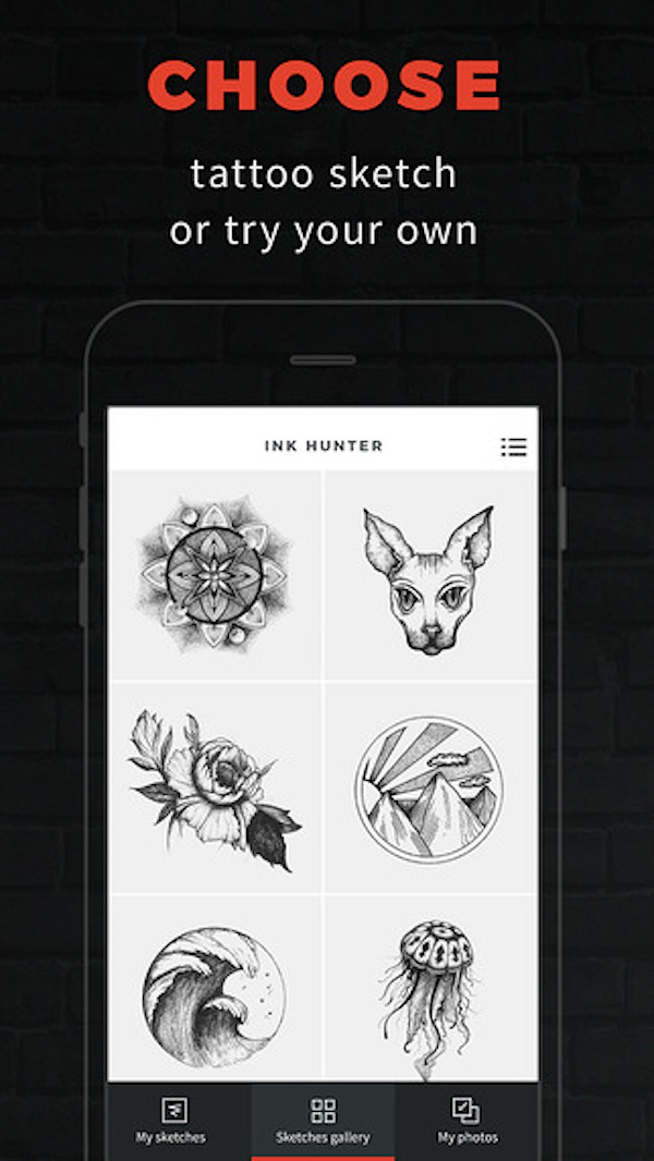 Nifty app lets you view what your sketched tattoos will for Design your own tattoo app