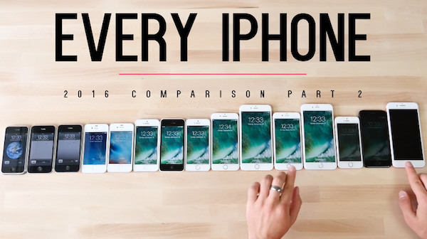 Speed test comparison of all the iphone models from 2g to 7 plus