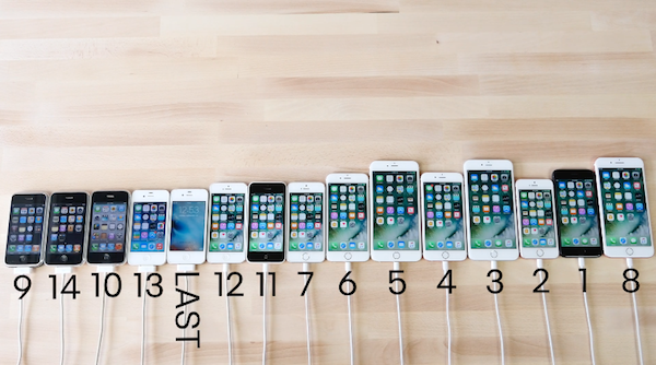 speed test comparison of all the iphone models  from 2g to