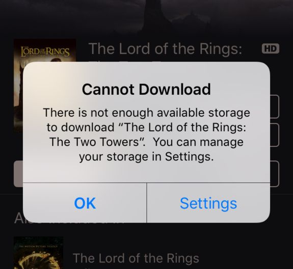 Free Up iPhone Storage Space By Tricking Your Phone To Rent A Movie On iTunes